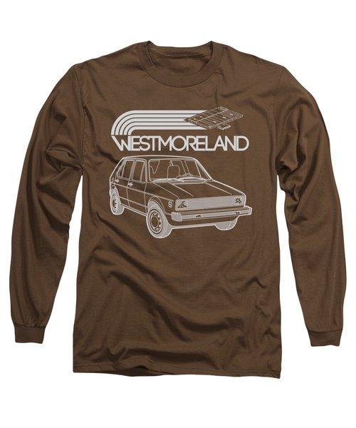 Vw Rabbit - Westmoreland Theme - Gray Long Sleeve T-Shirt by Ed Jackson