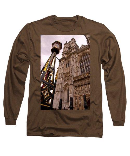 Westminster Abbey London England Long Sleeve T-Shirt by Jon Berghoff