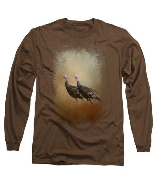 Wild Turkey At Shiloh Long Sleeve T-Shirt by Jai Johnson