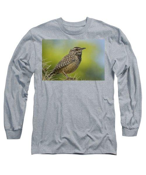 Cactus Wren  Long Sleeve T-Shirt by Saija  Lehtonen