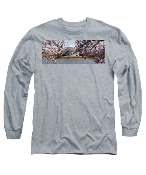Cherry Blossom Trees In The Tidal Basin Long Sleeve T-Shirt by Panoramic Images