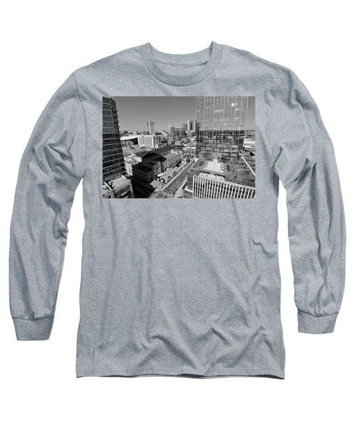 Aerial Photography Downtown Nashville Long Sleeve T-Shirt by Dan Sproul