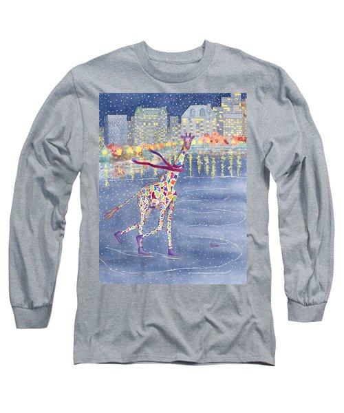 Annabelle On Ice Long Sleeve T-Shirt by Rhonda Leonard