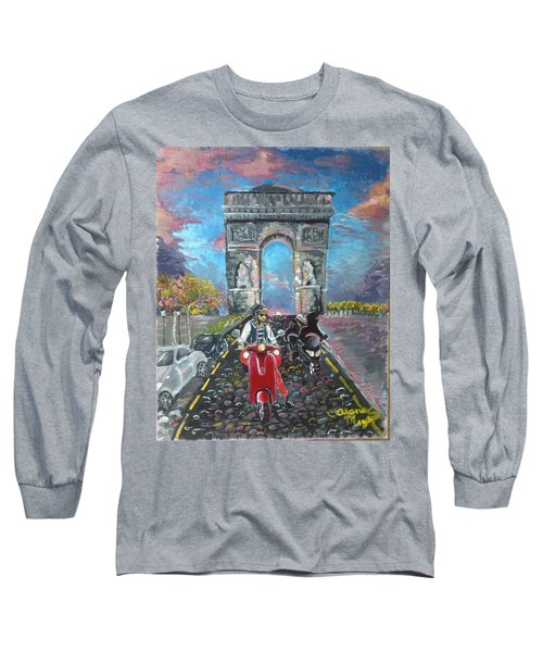 Arc De Triomphe Long Sleeve T-Shirt by Alana Meyers