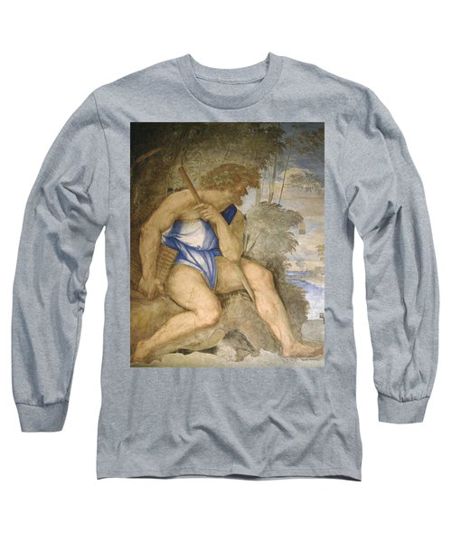Baldassare Peruzzi 1481-1536. Italian Architect And Painter. Villa Farnesina. Polyphemus. Rome Long Sleeve T-Shirt by Baldassarre Peruzzi