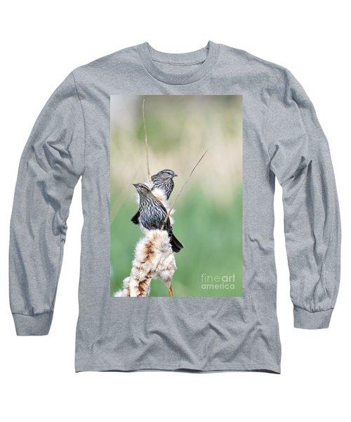 Blackbird Pair Long Sleeve T-Shirt by Mike  Dawson