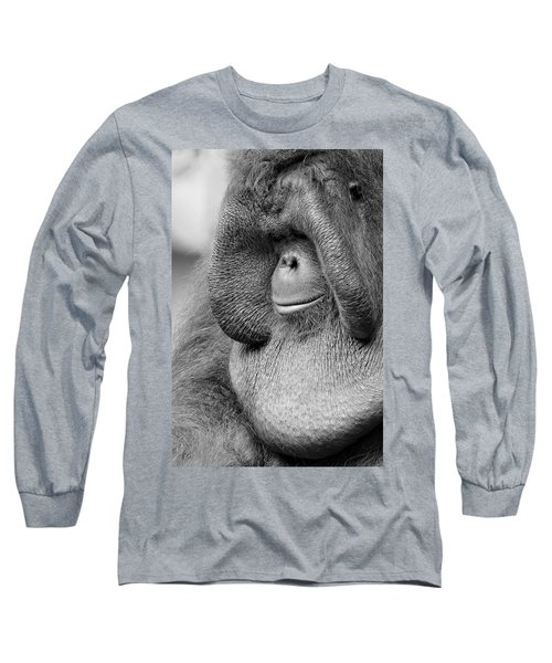 Bornean Orangutan V Long Sleeve T-Shirt by Lourry Legarde
