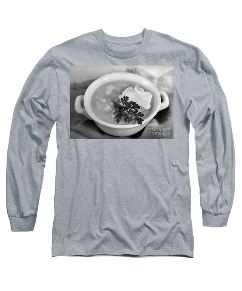 Cauliflower Soup Long Sleeve T-Shirt by Iris Richardson