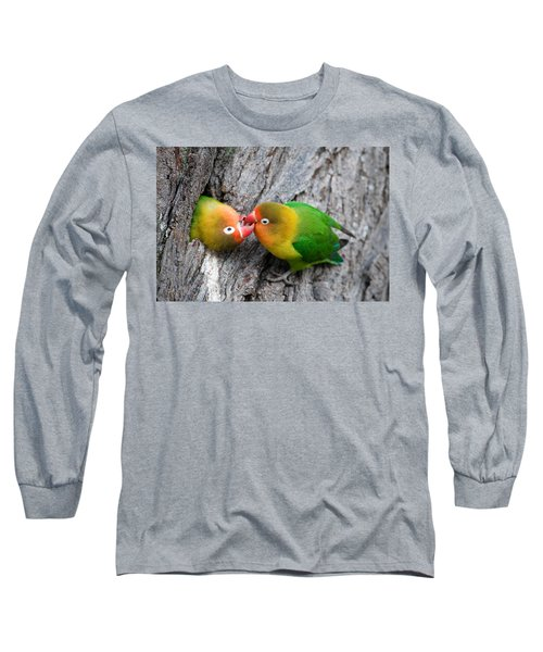 Close-up Of A Pair Of Lovebirds, Ndutu Long Sleeve T-Shirt by Panoramic Images