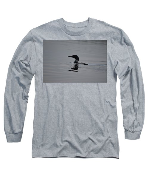 Common Loon Long Sleeve T-Shirt by James Petersen