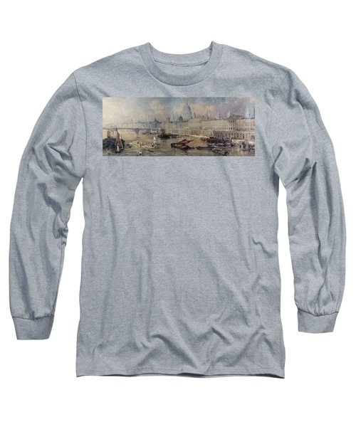 Design For The Thames Embankment Long Sleeve T-Shirt by Thomas Allom