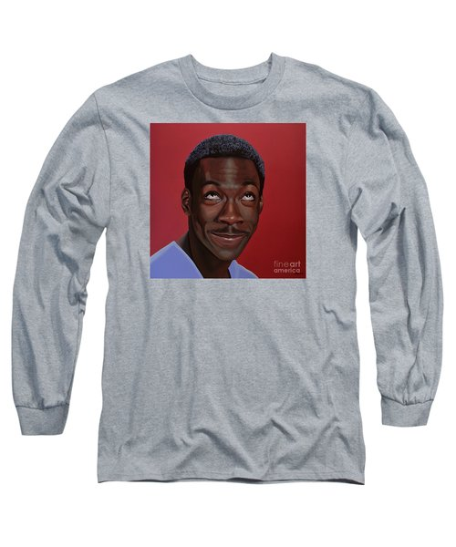 Eddie Murphy Painting Long Sleeve T-Shirt by Paul Meijering