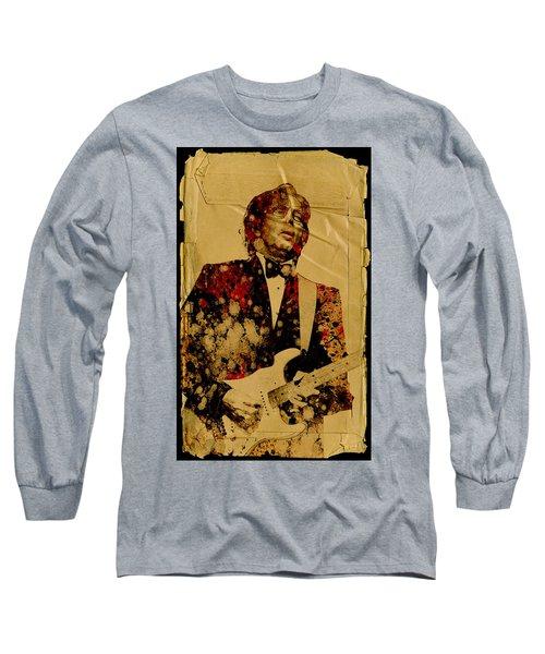 Eric Clapton 2 Long Sleeve T-Shirt by Bekim Art