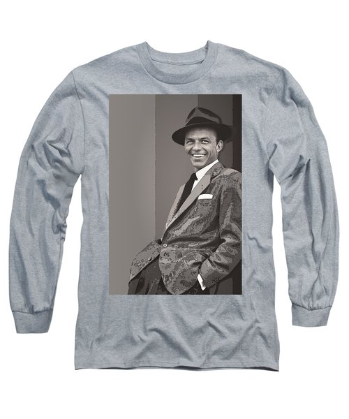 Frank Sinatra Long Sleeve T-Shirt by Daniel Hagerman
