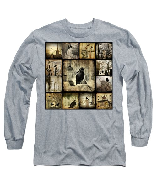 Gothic And Crows Long Sleeve T-Shirt by Gothicrow Images