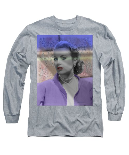 Grace Kelly - Featured In Comfortable Art Group Long Sleeve T-Shirt by EricaMaxine  Price