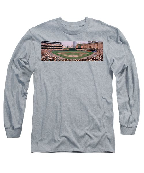 High Angle View Of A Baseball Field Long Sleeve T-Shirt by Panoramic Images