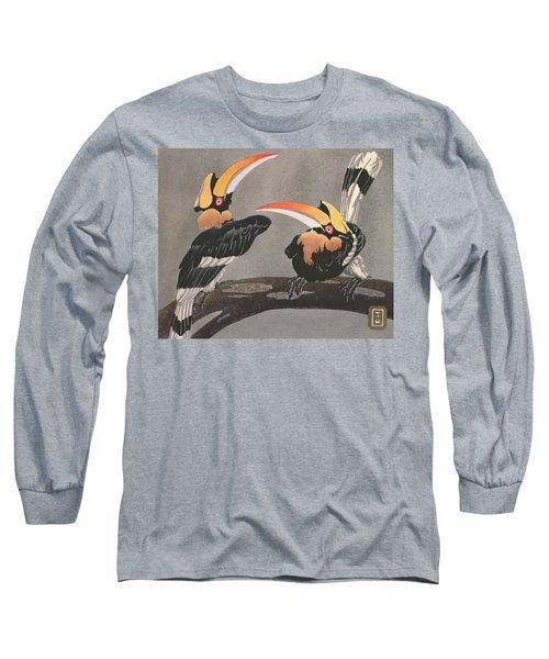 Hornbills Long Sleeve T-Shirt by Ethleen Palmer