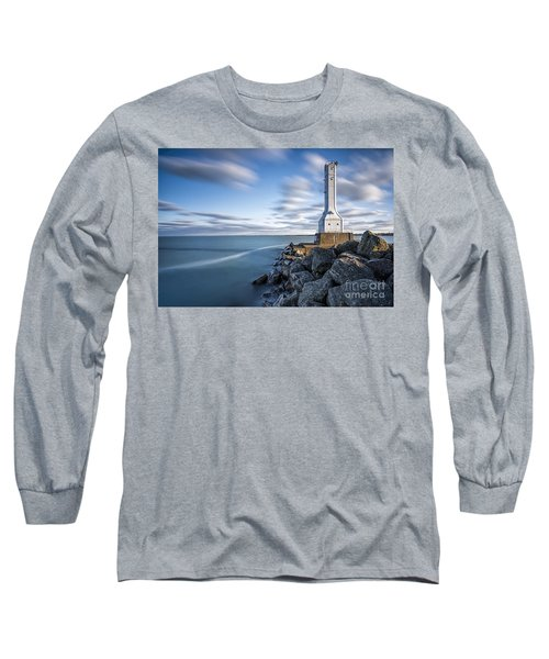 Huron Harbor Lighthouse Long Sleeve T-Shirt by James Dean