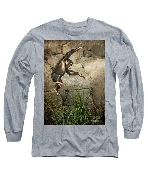 Jump For Joy Long Sleeve T-Shirt by Jamie Pham
