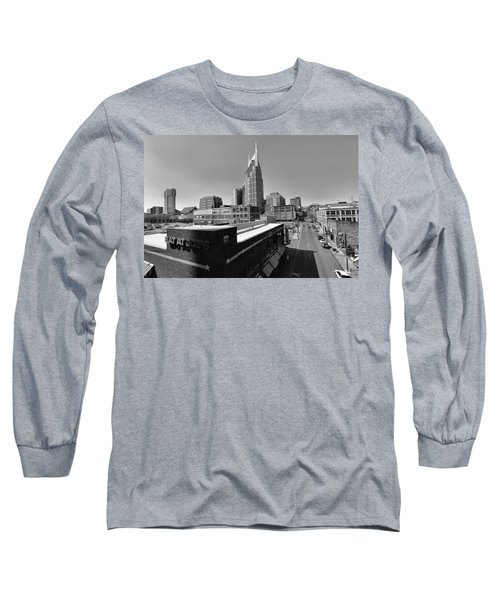 Looking Down On Nashville Long Sleeve T-Shirt by Dan Sproul