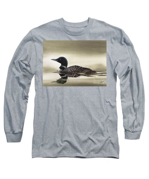 Loon In Still Waters Long Sleeve T-Shirt by James Williamson