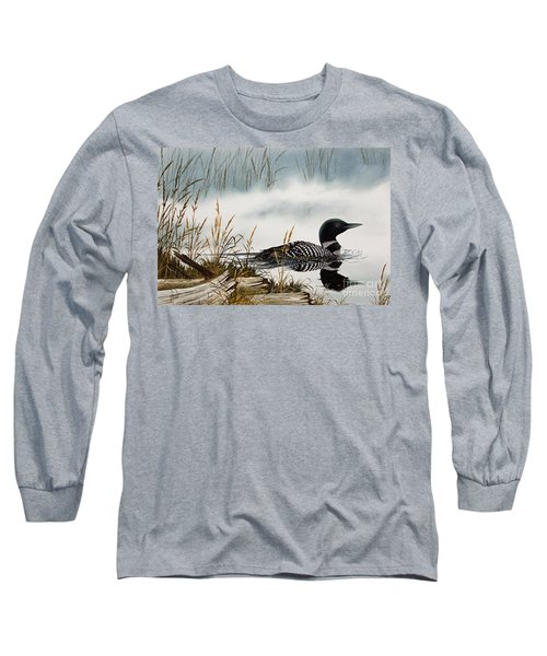 Loons Misty Shore Long Sleeve T-Shirt by James Williamson