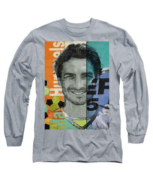 Mats Hummels - B Long Sleeve T-Shirt by Corporate Art Task Force