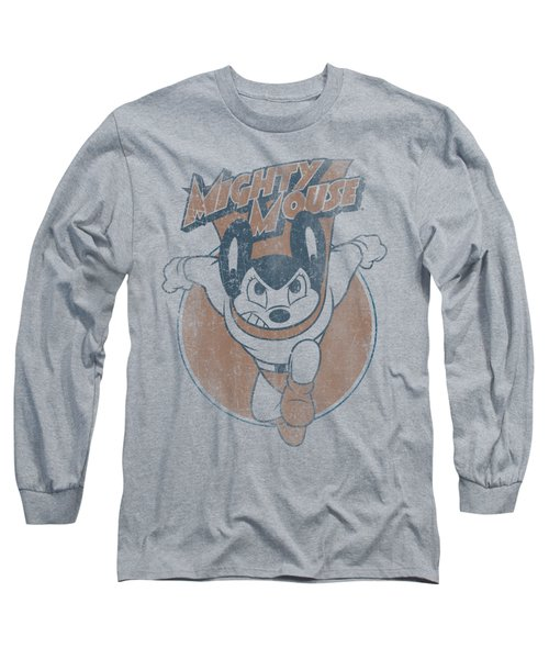 Mighty Mouse - Flying With Purpose Long Sleeve T-Shirt by Brand A