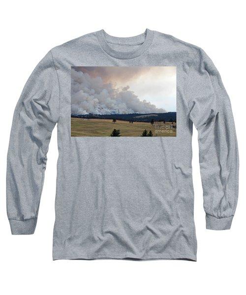 Long Sleeve T-Shirt featuring the photograph Myrtle Fire West Of Wind Cave National Park by Bill Gabbert