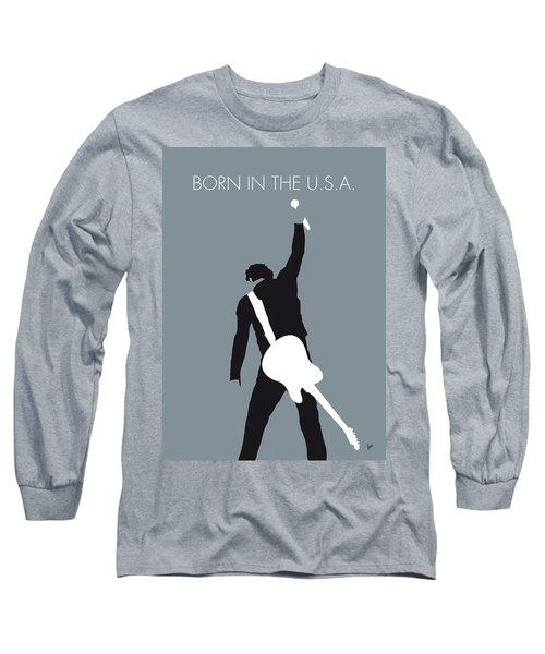 No017 My Bruce Springsteen Minimal Music Poster Long Sleeve T-Shirt by Chungkong Art