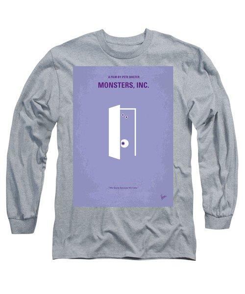 No161 My Monster Inc Minimal Movie Poster Long Sleeve T-Shirt by Chungkong Art