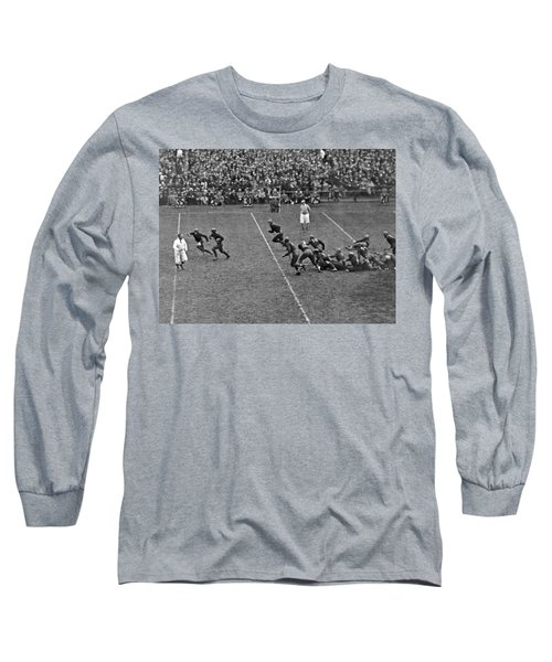 Notre Dame Versus Army Game Long Sleeve T-Shirt by Underwood Archives
