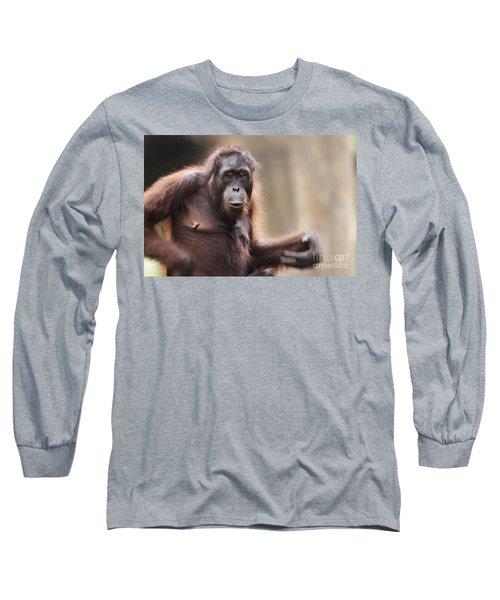 Orangutan Long Sleeve T-Shirt by Richard Garvey-Williams
