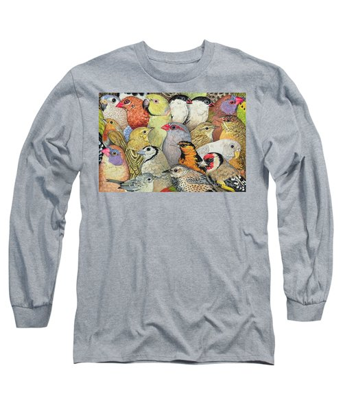 Patchwork Birds Long Sleeve T-Shirt by Ditz