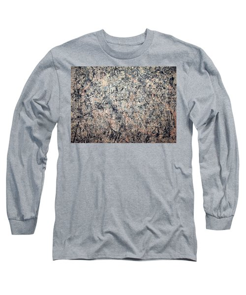 Pollock's Number 1 -- 1950 -- Lavender Mist Long Sleeve T-Shirt by Cora Wandel
