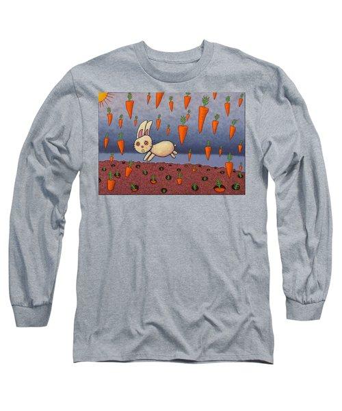 Raining Carrots Long Sleeve T-Shirt by James W Johnson