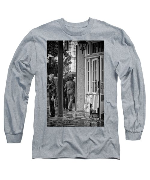 Rainy Day Lunch New Orleans Long Sleeve T-Shirt by Kathleen K Parker