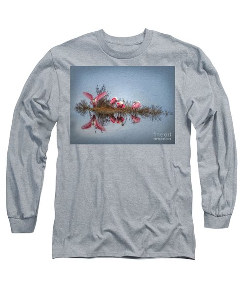 Roseate Spoonbills At Rest Long Sleeve T-Shirt by Lianne Schneider