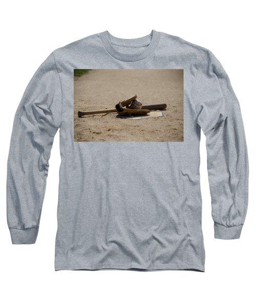 Softball Long Sleeve T-Shirt by Bill Cannon