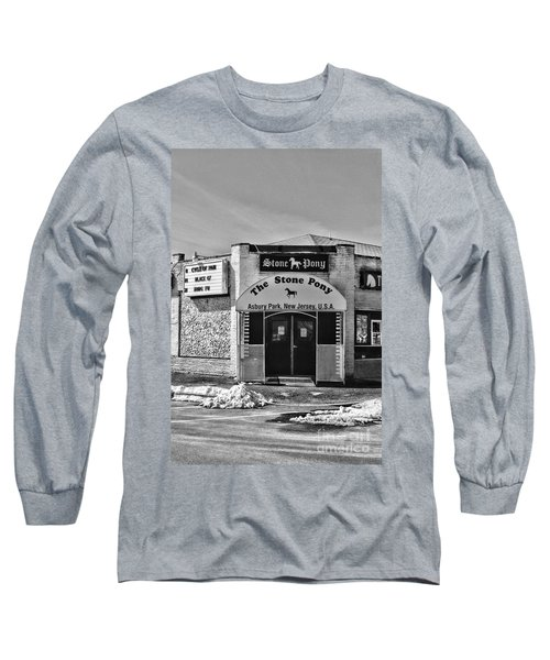 Stone Pony In Black And White Long Sleeve T-Shirt by Paul Ward