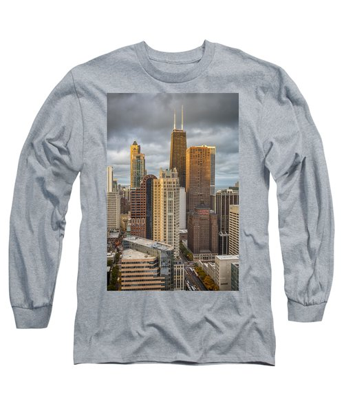 Streeterville From Above Long Sleeve T-Shirt by Adam Romanowicz