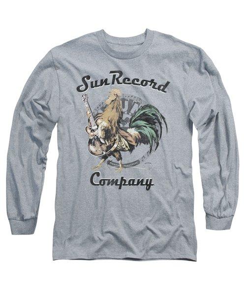 Sun - Rockin Rooster Logo Long Sleeve T-Shirt by Brand A