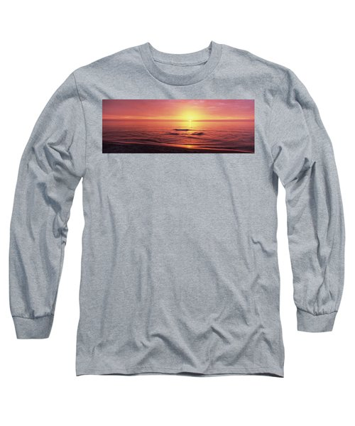 Sunset Over The Sea, Venice Beach Long Sleeve T-Shirt by Panoramic Images