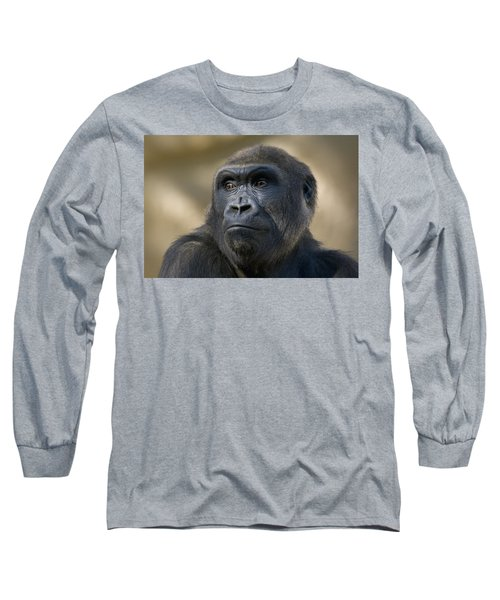 Western Lowland Gorilla Portrait Long Sleeve T-Shirt by San Diego Zoo