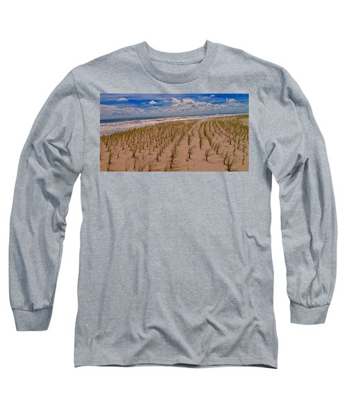 Wildwood Beach Breezes  Long Sleeve T-Shirt by David Dehner