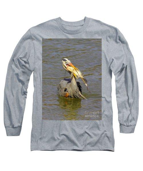 Bigger Fish To Fry Long Sleeve T-Shirt by Robert Frederick