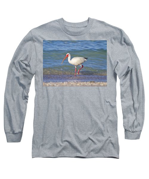 One Step At A Time Long Sleeve T-Shirt by Betsy Knapp