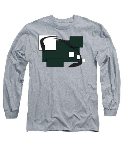 New York Jets Abstract Shirt Long Sleeve T-Shirt by Joe Hamilton