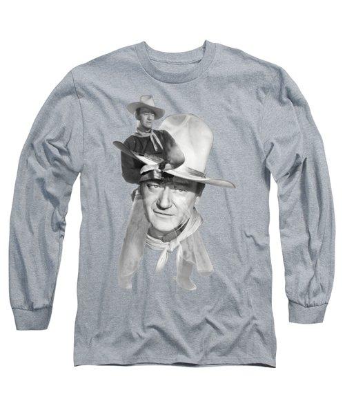 The Duke John Wayne Long Sleeve T-Shirt by Diana Van